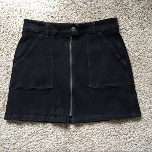 Madewell Denim Zip Utility Skirt sz 27